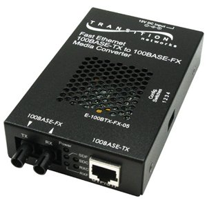 Transition Networks E-100BTX-FX-05(MT)NA Fast Ethernet Stand-Alone Media Converter