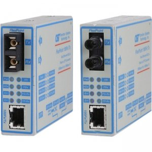 Omnitron Systems 4333-1W FlexPoint 100Fx/Tx Fast Ethernet Copper to Fiber Media Converter
