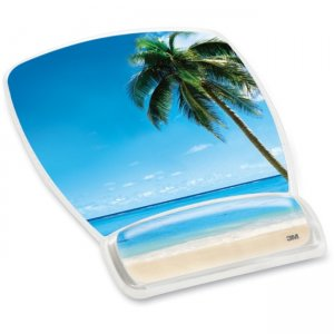 3M MW308BH Beach Design Gel Mouse Pad Wrist Rest MMMMW308BH