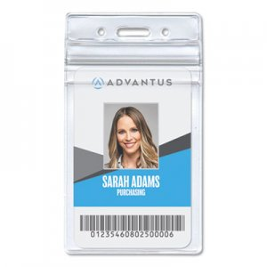 Advantus AVT75524 Resealable ID Badge Holder, Vertical, 2 7/8 x 4 5/16, Clear, 50/Pack