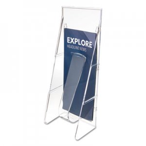 deflecto DEF55601 Stand Tall Literature Holder, 4 9/16w x 3 1/4d x 11 7/8h, Clear