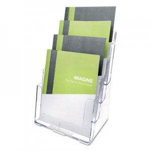 deflecto DEF77441 4-Compartment DocuHolder, Magazine Size, 9 1/4 x 7 x 13 1/2, Clear