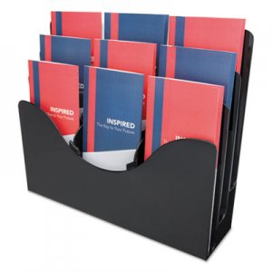 deflecto DEF47634 3-Tier Document Organizer w/6 Removable Dividers, 13 3/8 x 3 1/2 x 11 1