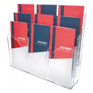 deflecto DEF47631 3-Tier Document Organizer w/6 Removable Dividers, 13 3/8 x 3 1/2 x 11 1