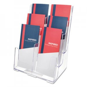 deflecto DEF77401 6-Compartment DocuHolder, Leaflet Size, 9 x 7 1/2 x 13 3/4, Clear