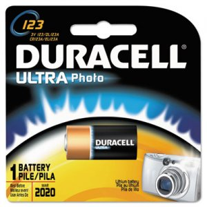 Duracell DL123ABPK Ultra High-Power Lithium Battery, 123, 3V DURDL123ABPK