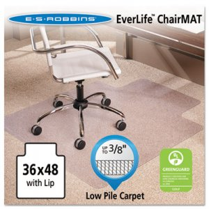 ES Robbins 128073 AnchorBar 36x48 Lip Chairmat, Multi-Task Series for Carpet up to 3/8 ESR128073