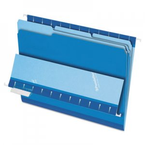 Pendaflex 421013BLU Interior File Folders, 1/3 Cut Top Tab, Letter, Blue 100/Box ESS421013BLU