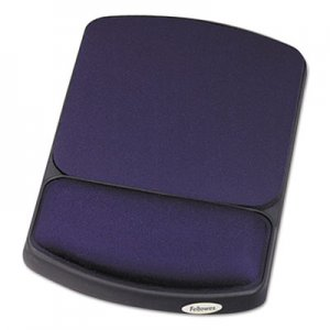 Fellowes 98741 Gel Mouse Pad w/Wrist Rest, 6 1/4 x 10 1/8, Sapphire/Black, Jewel Tones FEL98741