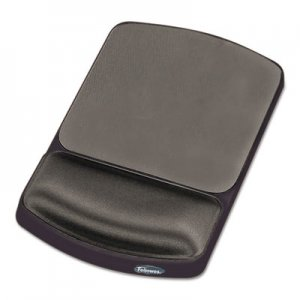 Fellowes 91741 Gel Mouse Pad w/Wrist Rest, Nonskid, 6 1/4 x 10 1/8, Platinum/Graphite FEL91741