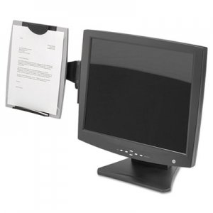 Fellowes 8033301 Office Suites Monitor Mount Copyholder, Plastic, Holds 150 Sheets, Black/Silver FEL8033301