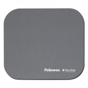 Fellowes 5934001 Mouse Pad w/Microban, Nonskid Base, 9 x 8, Graphite FEL5934001