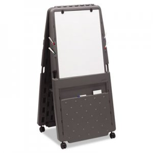 Iceberg ICE30237 Presentation Flipchart Easel With Dry Erase Surface, Resin, 33x28x73, Charcoal