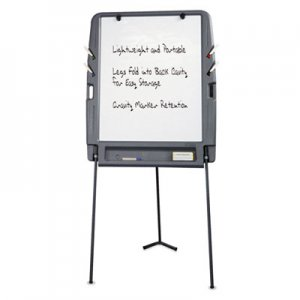 Iceberg ICE30227 Portable Flipchart Easel With Dry Erase Surface, Resin, 35 x 30 x 73, Charcoal