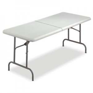 Iceberg 65453 IndestrucTables Too Bifold Resin Folding Table, 60w x 30d x 29h, Platinum ICE65453