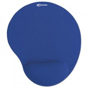 Innovera IVR50447 Mouse Pad w/Gel Wrist Pad, Nonskid Base, 10-3/8 x 8-7/8, Blue
