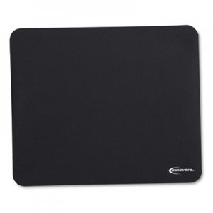 Innovera IVR52448 Latex-Free Synthetic Rubber Mouse Pad, Black