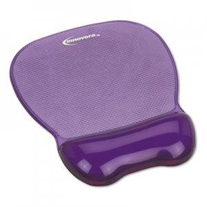 Innovera IVR51440 Gel Mouse Pad w/Wrist Rest, Nonskid Base, 8-1/4 x 9-5/8, Purple