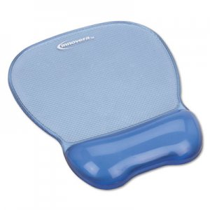 Innovera IVR51430 Gel Mouse Pad w/Wrist Rest, Nonskid Base, 8-1/4 x 9-5/8, Blue
