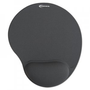 Innovera IVR50449 Mouse Pad w/Gel Wrist Pad, Nonskid Base, 10-3/8 x 8-7/8, Gray