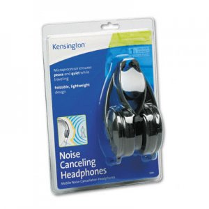 Kensington 33084 Noise Canceling Headphones Folding Design, Portable KMW33084