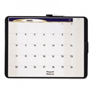 Quartet QRTCT2317 Tack & Write Monthly Calendar Board, 23 x 17, White Surface, Black Frame