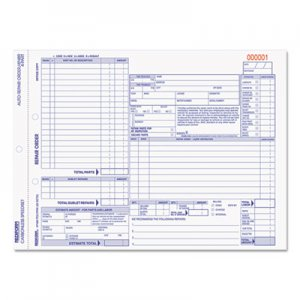 Rediform RED4P489 Four-Part Auto Repair Form, 11 x 8 1/2, Four-Part Carbonless, 50 Forms
