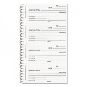Rediform RED23L115 Money and Rent Unnumbered Receipt Book, 5 1/2 x 2 3/4, Two-Part, 200 Sets/Book