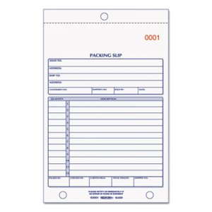 Rediform RED6L639 Packing Slip Book, 5 9/16 x 7 15/16, Carbonless Triplicate, 50 Sets/Book