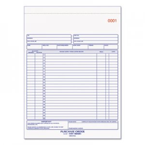 Rediform RED1L147 Purchase Order Book, 8 1/2 x 11, Letter, Three-Part Carbonless, 50 Sets/Book