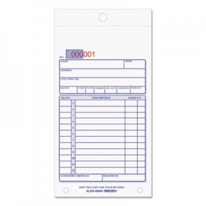 Rediform RED5L250 Sales Book, 3 5/8 x 6 3/8, Carbonless Triplicate, 50 Sets/Book