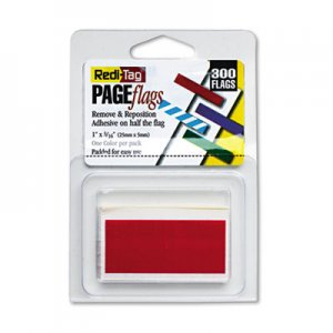 Redi-Tag 20022 Removable/Reusable Page Flags, Red, 300/Pack RTG20022