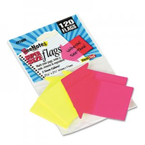 Redi-Tag RTG21095 SeeNotes Transparent-Film Arrow Page Flags, Neon Assorted, 60/Pad, 2 Pads