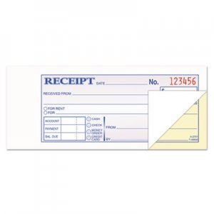 TOPS TOP46800 Money and Rent Receipt Books, 2-3/4 x 7-3/16, 2-Part Carbonless, 100 Sets/Book