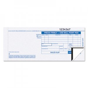 TOPS 38538 Credit Card Sales Slip, 7 7/8 x 3-1/4, Three-Part Carbonless, 100 Forms TOP38538