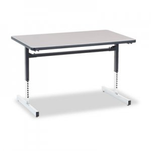 Virco VIR873048091 8700 Series Rectangular Activity Table, 48w x 30d x 30h, Gray Nebula/Chrome