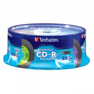 Verbatim 94488 Digital Vinyl CD-R 80MIN 700MB 25pk Spindle VER94488