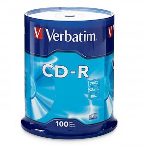 Verbatim 94554 CD-R 80MIN 700MB 52x 100pk Spindle VER94554