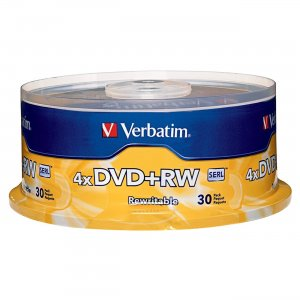 Verbatim 94834 DVD+RW 4.7GB 4X Branded 30pk Spindle VER94834