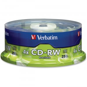 Verbatim 95169 CD-RW 80MIN 700MB 2x-4x 25pk Spindle VER95169