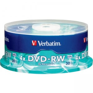 Verbatim 95179 DVD-RW 4.7GB 4X Branded 30pk Spindle