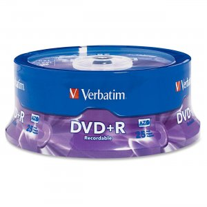 Verbatim 95033 DVD+R 4.7GB 16x 25pk Spindle VER95033
