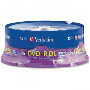 Verbatim 95484 Double Layer DVD+R DL 8.5GB 8x 15pk Spindle VER95484