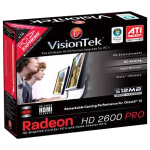 Visiontek 900181 Radeon HD 2600PRO Graphics Card