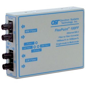 Omnitron Systems 4412-2 FlexPoint Fast Ethernet Transceiver 4412-x