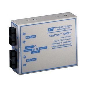 Omnitron Systems 4433-1 FlexPoint 1000FF SC Multimode 550m to SC Single-Mode 12km US AC Powered 4433-x