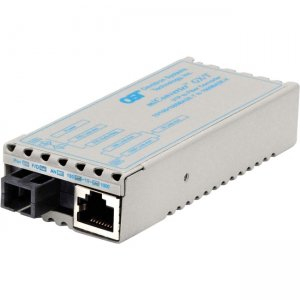 Omnitron Systems 1231-1-1 miConverter GX/T SC Single-Mode Single-Fiber 15/13 20km US AC Powered 1231