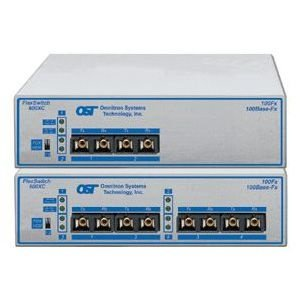 Omnitron Systems 6530-0-FK FlexSwitch Fast Ethernet Compact Switch 600XC 4Fx