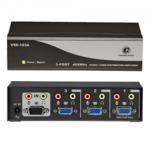 Connectpro VSE-103A 3-port 400MHz Video/Audio Splitter