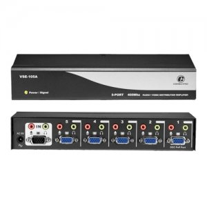 Connectpro VSE-105A 5-port 400MHz Video/Audio Splitter